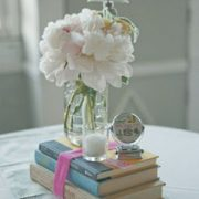 book_candle_flower