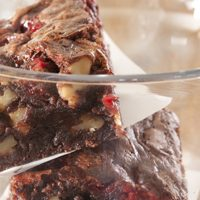 Orange and Cherry Brownies