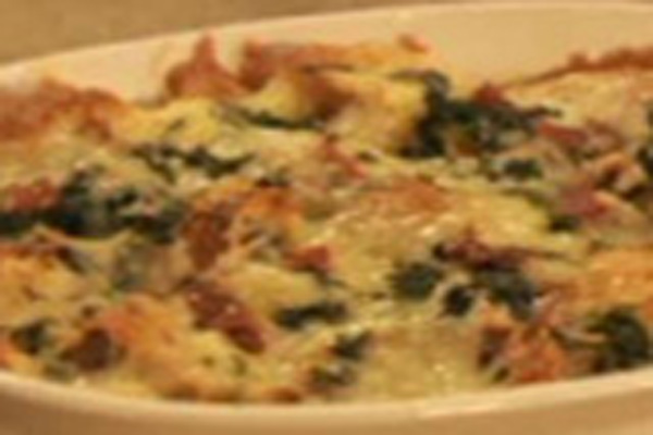 Katie Brown | Spinach and Cheese Strata