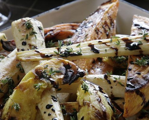 vegetarian Roasted root vegetable recipe