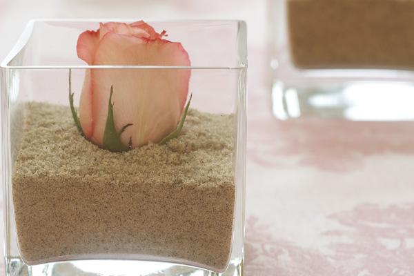 Katie Brown Rose In Sand Centerpiece