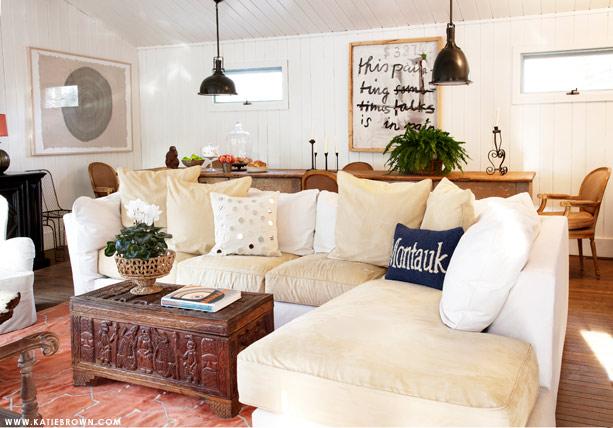 Katie Brown | Beach: Living & Dining Room