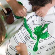 paint by leaf kids diy from Katie Brown