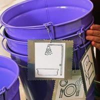 Katie Brown organization DIY laundry room