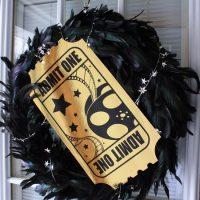 oscar door wreath from Life in Yellow