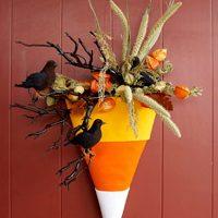 katie brown's favorite candy corn wreath