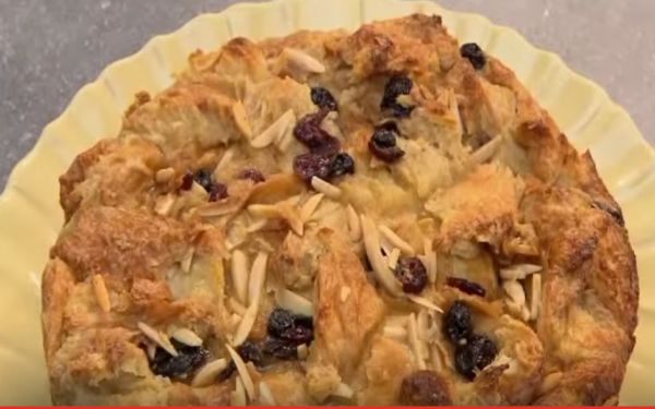 Colettes bread pudding recipe on katie brown