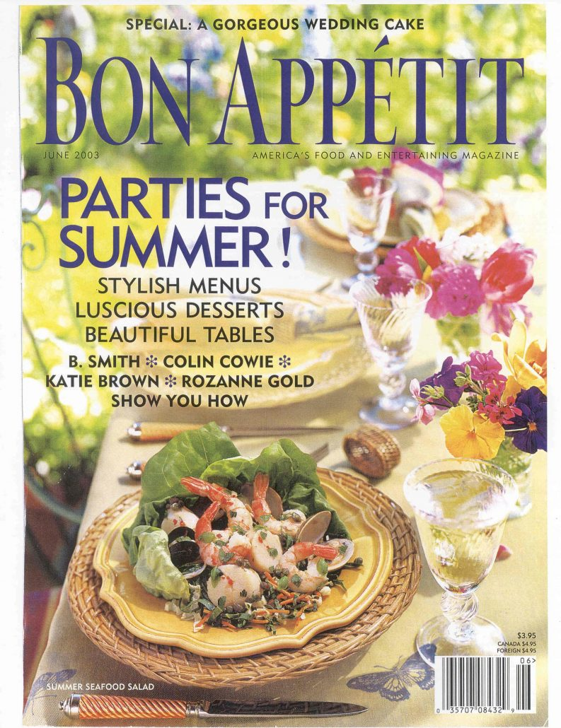 Katie Brown Bon Appetit Article