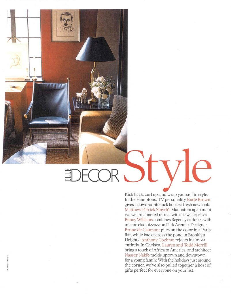 Katie Brown in Elle Decor article