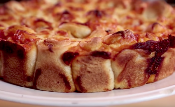Pull apart pizza pie from Katie Brown