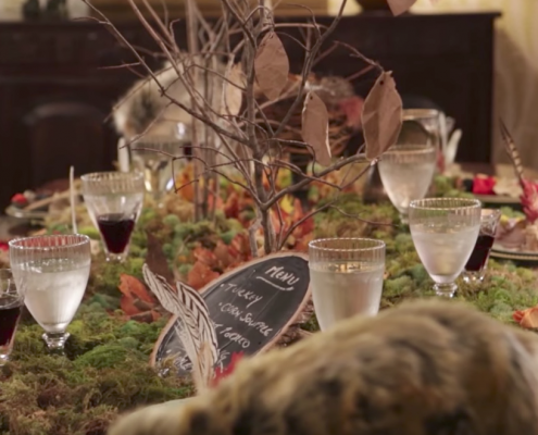 Moss table runner DIY from Katie Brown