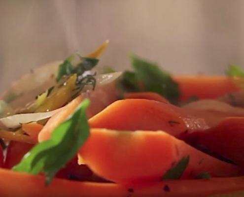 Honey Orange Glazed Carrots recipe by Katie Brown