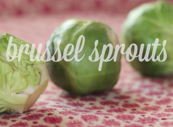 brussel sprout recipe side dish from Katie Brown