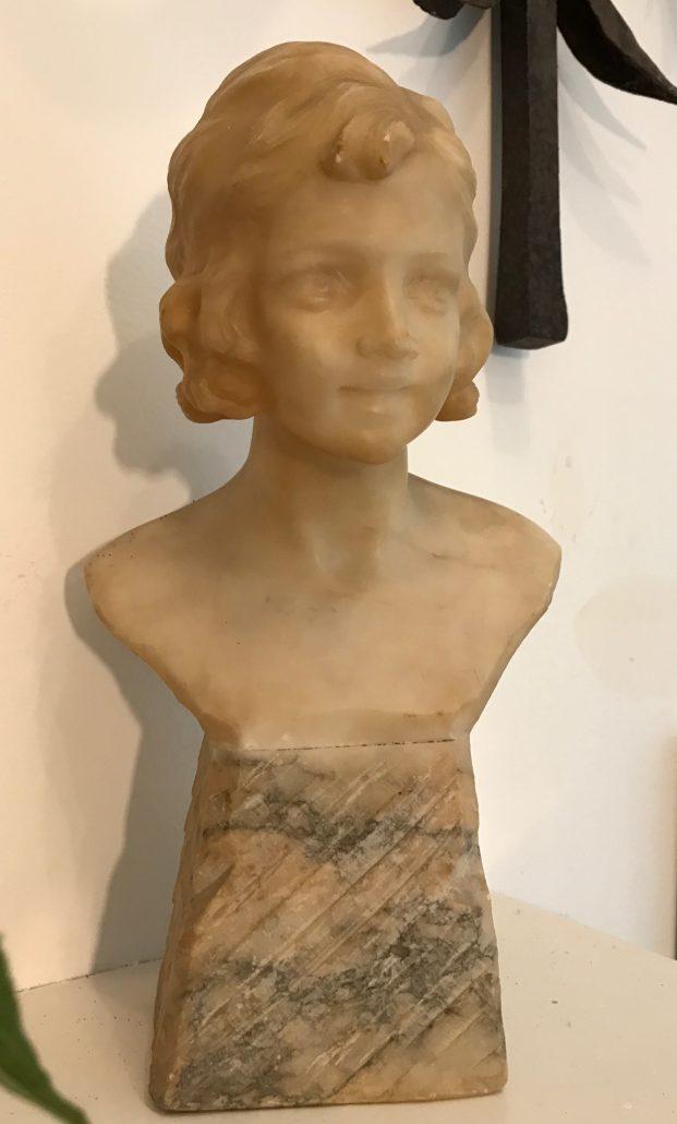 marble bust woman katie brown
